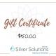 Silver Solutions MedSpa Gift Certificate $50